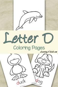 Preschool Letter Activities: Letter D Coloring Pages