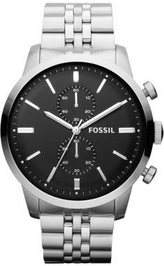 Fossil Men's FS4784 Townsman Chronograph Stainless Steel Watch < $98.00 > Fossil Watch Men
