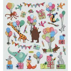 Animal Party Sticker • Birthday Party