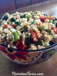 Warm Balsamic Barley and Quinoa Salad | Satisfying, Sweet & Savory | Only 277 Calories | High in Fiber & Protein | Healthy Comfort Food | Feta Cheese Adds Perfect Bite | For MORE RECIPES, fitness & nutrition tips please SIGN UP for our FREE NEWSLETTER www.NutritionTwins.com