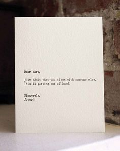 Hilarious & Minimal 'Dear Blank, Please Blank' Cards - UltraLinx