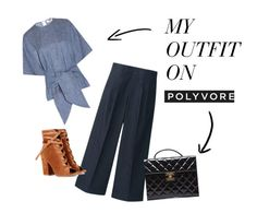 """Myoutfit on Polyvore"" by soboku on Polyvore featuring ファッション, Uniqlo, MSGM, Gianvito Rossi と Chanel"
