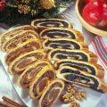 Lajos Mari konyhája - Diós-mákos bejgli Hungarian Desserts, Hungarian Cuisine, Hungarian Recipes, Polish Recipes, My Recipes, Sweet Recipes, Holiday Recipes, Holiday Dinner, No Bake Cake