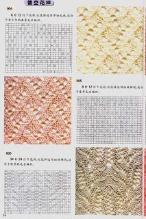 Charted lace stitches.