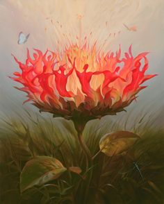 Fiery Dance. Vladimir Kush. Surrealist Artist. Painting. Modern Contemporary Art. Surrealism.