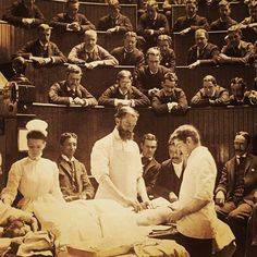 Boston City Hospital operating theater,1890.