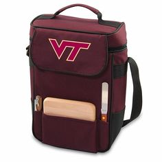 Picnic Time Duet Wine and Cheese Tote - Virginia Tech