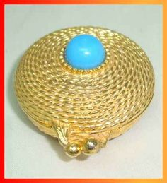 """1968 Estee Lauder perfume compact re-issued 1971 """"Golden Rope"""""""