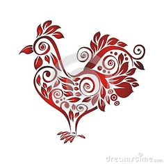 Illustration about Rooster with Decorative floral ornament, suitable for textile and tattoo design and other use. Illustration of curl, chinese, astrology - 76738544 Pencil Art Drawings, Doodle Drawings, Doodle Art, Rooster Tattoo, Chicken Tattoo, Chicken Pattern, Paper Quilling Designs, Mom Tattoos, Tattoo Designs