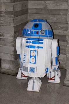 L3-G0 is a full size, working, Lego R2-D2
