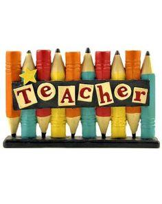 """Teacher Appreciation Gift - """"Star Teacher"""" Free Standing Desk Sign"""