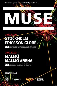 MUSE – December 6th - Stockholm, Ericsson Globe | December 7th - Malmö, Malmö Arena