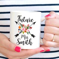 We just love this Future Mrs Mug perfect for wedding planning or an engagement present.