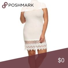 "Ivory Cami Lace Extender IVORY/OFF WHITE Adjustable strap cami with crochet lace hem. Versatile 97/3 poly/spandex. So much stretch! Stock photo used w/permission. An awesome piece to add to your wardrobe! Wear this as a slip, under tunics or blouses or a night gown. 🐶🚭                   Measurements                                                                        3X Armpit to armpit 20"" Lgth tag to lace hem 30"" Fashionomics Intimates & Sleepwear Chemises & Slips"