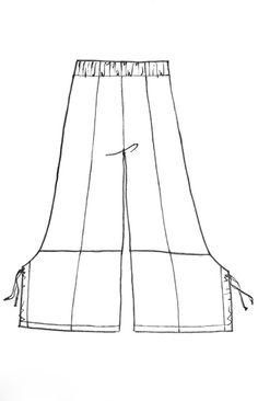 простые брюки бохо