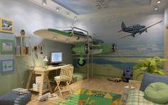 Quarto para crianças que gostam de aviões