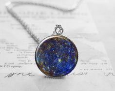 Planet Mercury Necklace, Space Pendant, N014
