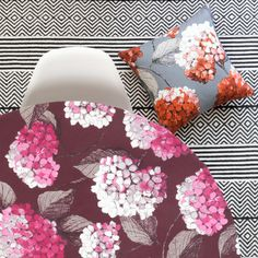 Hortensia Fabric Pattern Making, Plywood, Hydrangea, Different Colors, Pastel, Colours, Throw Pillows, The Originals, Drawings
