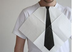 Turn any dinner party into a top notch black tie event with this fun idea. Dress for Dinner Napkins by Hector Serrano