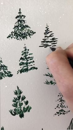 Watercolor Christmas Trees by Leah Bisch StudioYou can find Christmas trees and more on our website.Watercolor Christmas Trees by Leah Bisch Studio Watercolor Christmas Tree, Christmas Drawing, Watercolor Trees, Diy Christmas Tree, Watercolor Cards, Christmas Tree Decorations, Watercolor Paintings, How To Draw Christmas Tree, Painted Christmas Tree