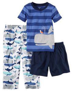 3-Piece Cotton & Jersey PJs