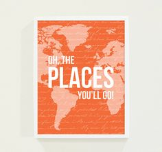Baby Boy Nursery Wall Art Quotes  Oh The Places von fieldtrip, $18.00