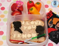 In Japan, young couples often will actually make their bento for each other, and so each takes a special creation with them to work and can think about each other at lunch while they are apart.    I would totally adore it if my hubby made me one of these! Absolutely the most romantic scene in all of Star Wars right here :D