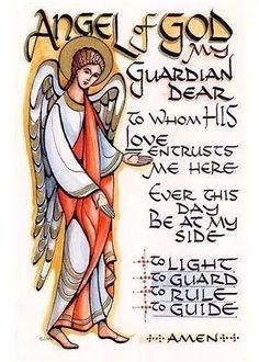 Prayer to a Guardian Angel. Source: A Catholic Rose