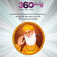 Warm wishes for you and your family on May Guru Nanak Dev Ji bring happiness and harmony to your life! Nanak Dev Ji, Wishes For You, Real Estate Services, Warm, Happiness, Life, Happy, Bonheur, Ser Feliz
