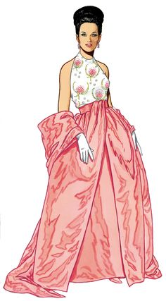 Graphic of the Day 1960's Fashion illustration