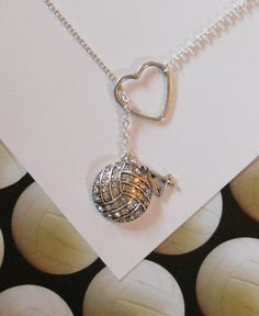 For the Water Polo Mom -- Volleyball / Water Polo  Necklace with by MelissaMarieRussell, $27.50