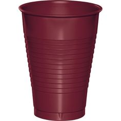 Touch of Color Burgundy Deep Red 12 oz Solid Color Disposable Plastic Cups…