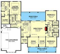 Budget Friendly Modern Farmhouse Plan with Bonus Room - 51762HZ | Architectural Designs - House Plans