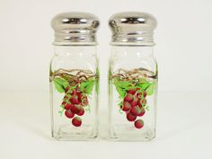Hand Painted Salt Pepper Shakers Hand Painted by PaintingByElaine, $12.00