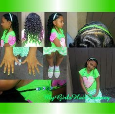 Cute  girly hairdo  ♥   Great for St Patrick's Day