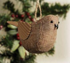Burlap birdy