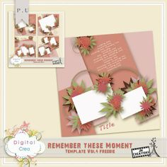 JM Creations: NEW Remember these Moment template Vol4 a nd Bundle +Gift + new Freebie and Chance to Win!!!