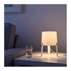 IKEA TVÄRS table lamp Creates a soft, cosy mood light in your room.
