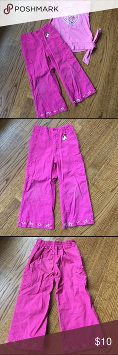 Girls pants Girls pants. Healthtex size 3T. Elastic waist in back. Embroidered with horses at bottom. Bottoms