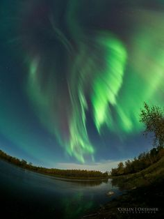 Aurora near Red Deer, Alberta, Canada
