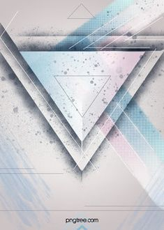 simple color triangle fashion business party poster background