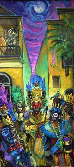 2015 Official Zulu Poster by Terrance Osbourne Pirate History, Parade Route, Mardi Gras Carnival, New Orleans Mardi Gras, Southern Gothic, Zulu, Chalk Art, Wonderful Images, Home Art