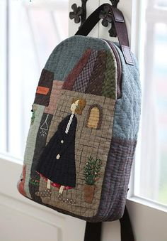 Deshilachado: Puntadas 552 Japanese Patchwork, Patchwork Bags, Quilted Bag, Wool Applique, Applique Quilts, Sacs Tote Bags, Wallet Tutorial, Fabric Bags, Handmade Bags
