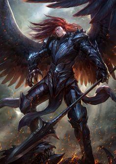 Tagged with fantasy, dnd, wideworldofimagination; Fantasy Male, Fantasy Warrior, Dark Fantasy Art, Fantasy Artwork, Male Angels, Angels And Demons, Fantasy Character Design, Character Art, Character Inspiration