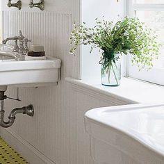 bathroom with wainscoting  waterproof