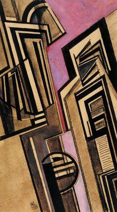 Wyndham Lewis, 'Vorticist Composition' 1915