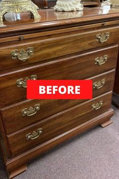 Check out the before and after photos of this furniture flip. Who doesn't love dresser upcycle project which allows you to decorate your home on a budget perfect for your bedroom or living room. #hometalk Upcycled Furniture, Diy Furniture, Furniture Refinishing, Refurbished Furniture, Painted Furniture, Bedroom Furniture, Apartment Washer, Stencil Dresser, Decorating Your Home