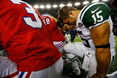 Not sure what's going on here. New York Jets v New England Patriots, 10/21/12.