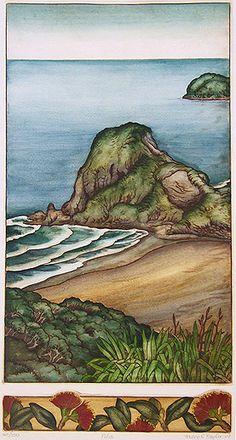 New Zealand prints at Art by the sea, fine art gallery in Devonport, Auckland, New Zealand New Zealand Art, New Zealand Landscape, Landscape Paintings, New Art, Maori Art, Australian Art, Fine Art Gallery, Bird Prints, Nz Art