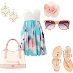summer dress, created by karen-humphries on Polyvore